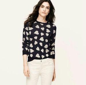 Ann Taylor Loft Heart Sweater